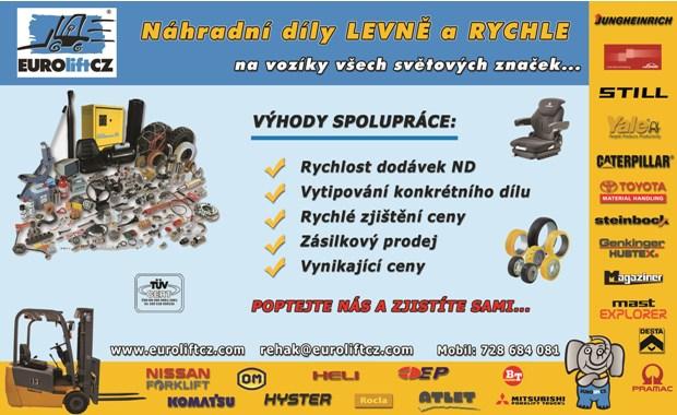 Prodej náhradních dílů na vozíky všech světových značek