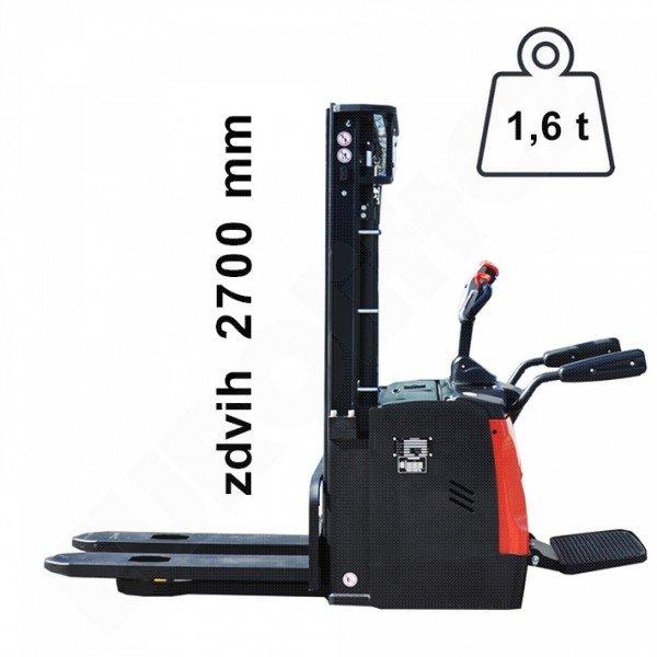 Vysokozdvižný ručně vedený vozík s přízdvihem EUROliftCZ ES16RS I