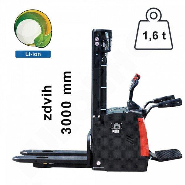 Vysokozdvižný ručně vedený vozík EUROliftCZ ES16RS L