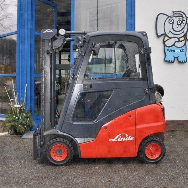 Použitý vysokozdvižný vozík plynový Linde H 14 T - stav dobrý, po repasi