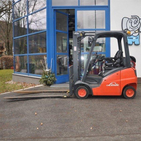 Použitý vysokozdvižný vozík Linde H 16 T, pohon LPG - stav dobrý