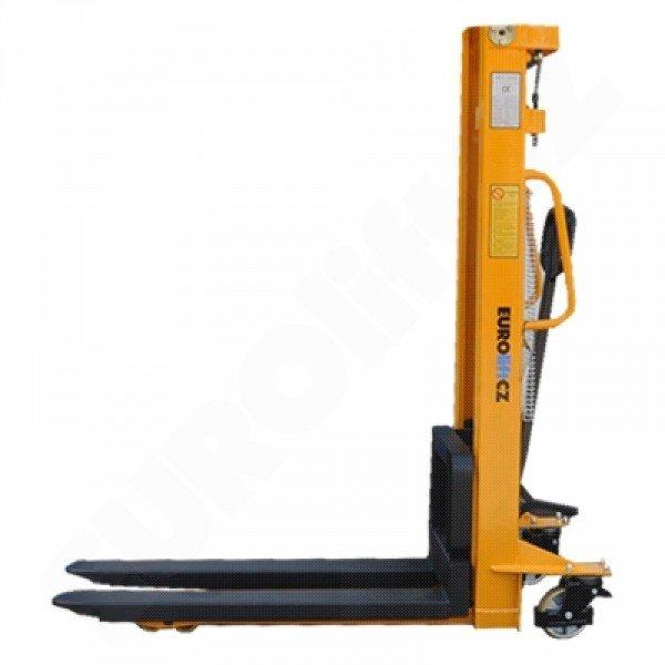 Vysokozdvižný ruční vozík s manuálním zdvihem EUROliftCZ MSE1000-2500