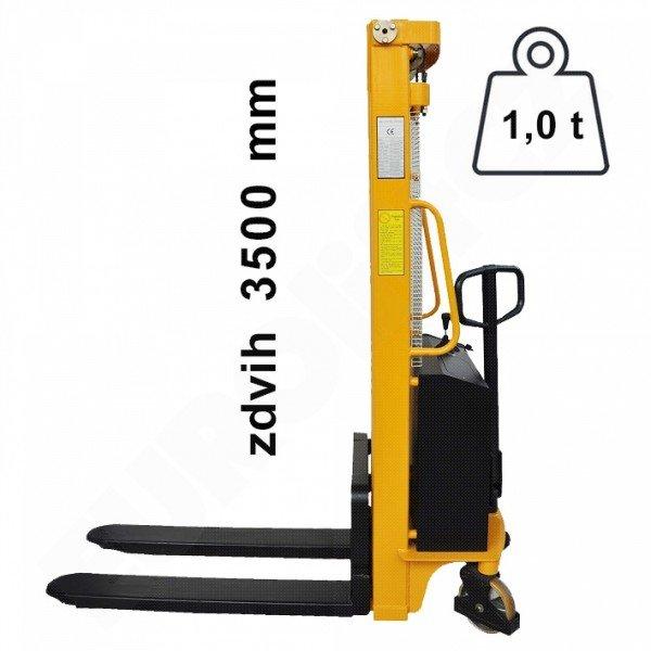 Vysokozdvižný ruční vozík s elektrickým zdvihem EUROliftCZ EMS-E1000 - 3500
