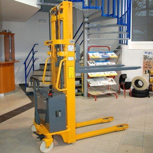 Vysokozdvižný ruční vozík s elektrickým zdvihem EUROliftCZ EMS-E1000 - 3000
