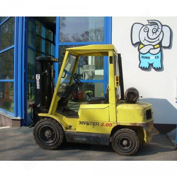 Použitý vysokozdvižný vozík plynový HYSTER H 3.00 XM
