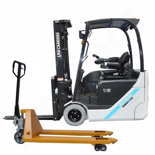 Čelní elektrický vysokozdvižný vozík UNICARRIERS - NISSAN TX 3-16 s bezvolantovým ovládáním+ PALETOVÝ VOZÍK ZDARMA