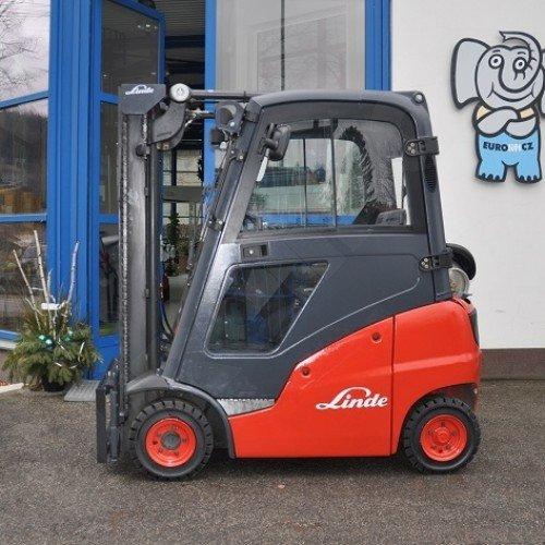 Použitý vysokozdvižný vozík dieselový Linde H 14 T - stav dobrý, po repasi