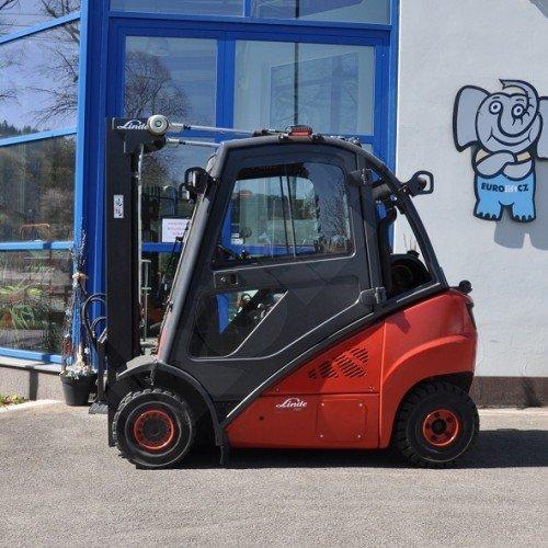 Použitý vysokozdvižný vozík plynový Linde H 20 T rok výroby 2015 - stav velmi dobrý