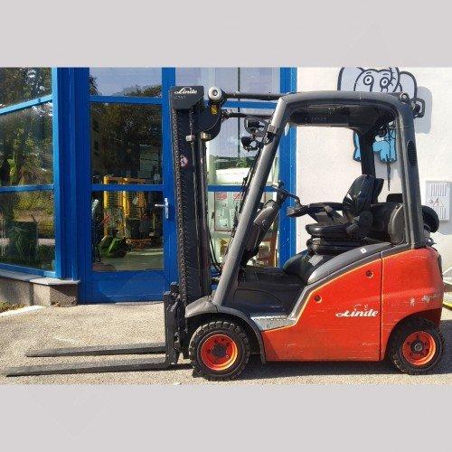 Použitý vysokozdvižný vozík plynový LINDE H16T - dobrý stav