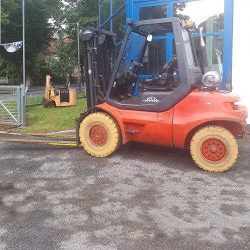 Použitý vysokozdvižný vozík plynový LINDE H45T
