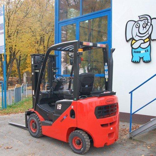 Vysokozdvižný vozík s plynovým pohonem EUROliftCZ F18 BG