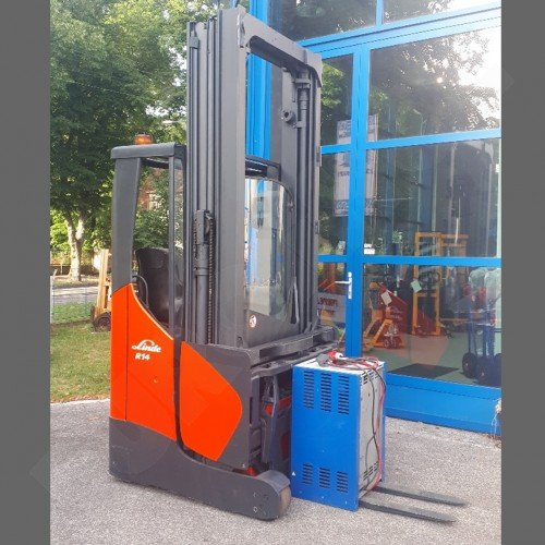 Použitý vysokozdvižný boční vozík LINDE R14 X