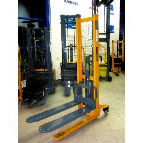 Vysokozdvižný ruční vozík s manuálním zdvihem EUROliftCZ MSE1000-1600